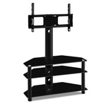 Artiss 3 Tier Floor TV Stand with Bracket Shelf Mount - b-organized