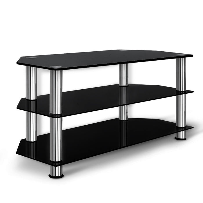 Artiss TV Stand Entertainment Unit Media Cabinet Temptered Glass 3 Tiers - b-organized
