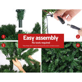 Jingle Jollys 1.8M 6FT Christmas Tree Xmas 1980 LED Lights Warm White 765 Tips - b-organized