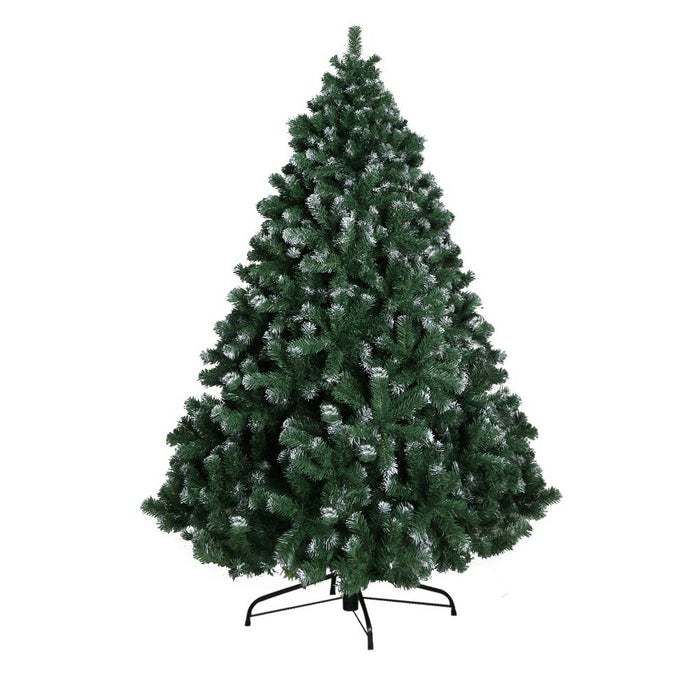Jingle Jollys 8FT Christmas Snow Tree - b-organized