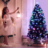 Jingle Jollys 1.5M 5FT LED Christmas Tree Xmas Optic Fiber Multi Colour Lights - b-organized