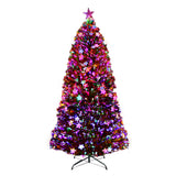 Jingle Jollys 1.8M 6FT LED Christmas Tree Xmas Optic Fiber Multi Colour Lights - b-organized