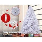 Jingle Jollys 7FT Christmas Tree - White - b-organized