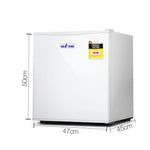Devanti 48L Portable Mini Bar Fridge - White - b-organized