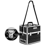 Embellir Portable Cosmetic Beauty Makeup Carry Case - Diamond Black - b-organized