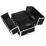 Embellir 7 in 1 Portable Cosmetic Beauty Makeup Trolley - Black - b-organized
