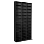 Artiss Adjustable Book Storage Shelf Rack Unit - Black - b-organized