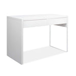 Artiss Metal Desk with 2 Drawers - White - b-organized