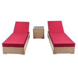 Gardeon 3 Piece Outdoor Wicker Lounge Set - Brown