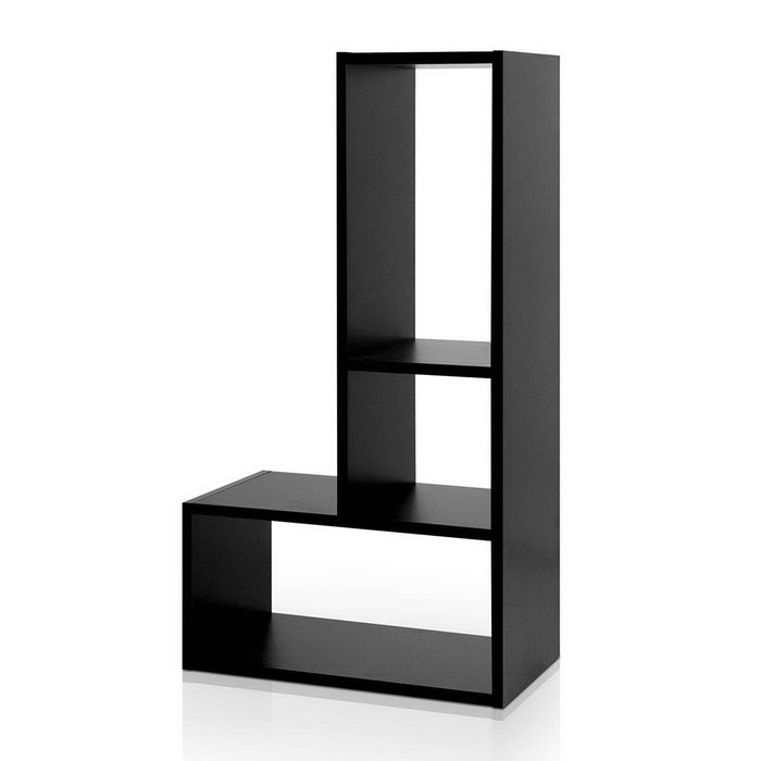 Artiss DIY L Shaped Display Shelf - Black - b-organized