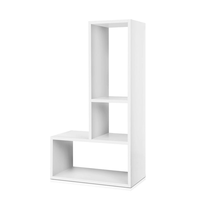 Artiss DIY L Shaped Display Shelf - White - b-organized