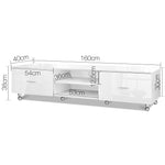 Artiss Adjustable High Gloss TV Unit - b-organized