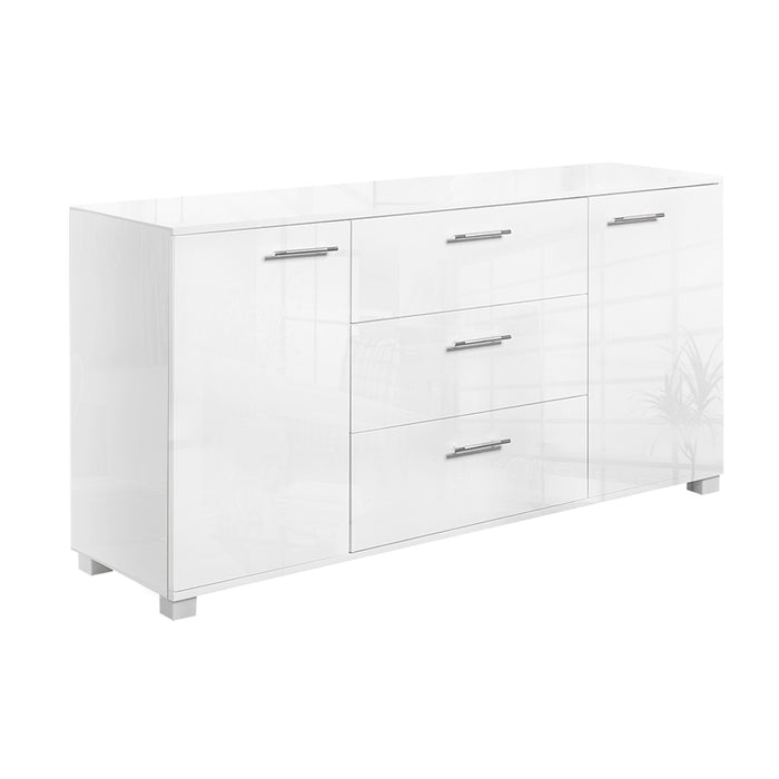 Artiss High Gloss Sideboard Storage Cabinet Cupboard - White - b-organized