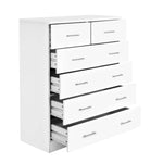 Artiss Tallboy 6 Drawers Storage Cabinet - White - b-organized