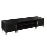 Artiss Entertainment Unit with Cabinets - Black - b-organized