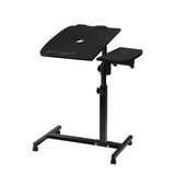 Adjustable Computer Stand with Cooler Fan - Black - b-organized