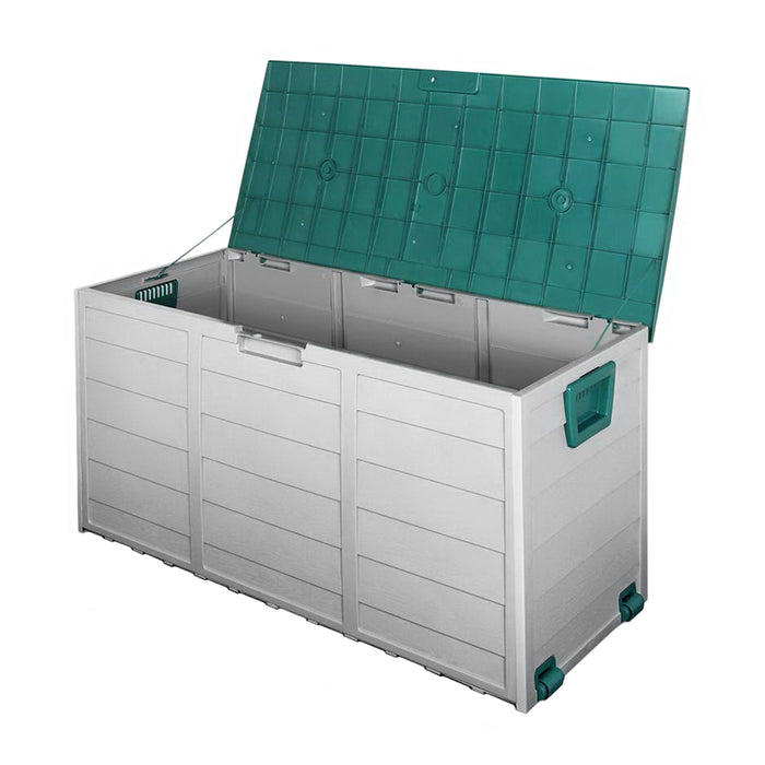 Giantz 290L Outdoor Storage Box - Green - b-organized