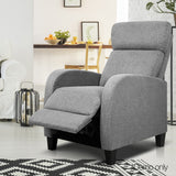 Artiss Fabric Reclining Armchair - Grey - b-organized