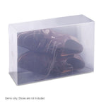 Set of 20 Transparent Stackable Shoe Storage Box - b-organized
