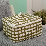 Large Multipurpose Cotton Linen Folding Organisational Storage Bag - b-organized
