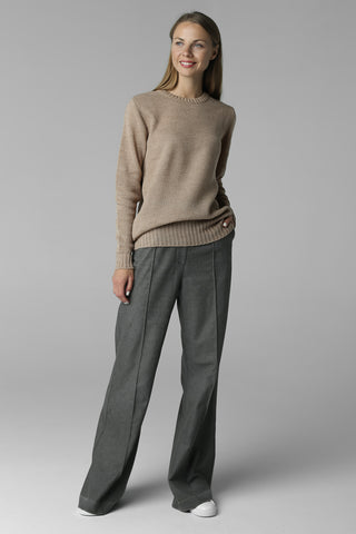 Classic thin jumper honeycomb pattern (beige)