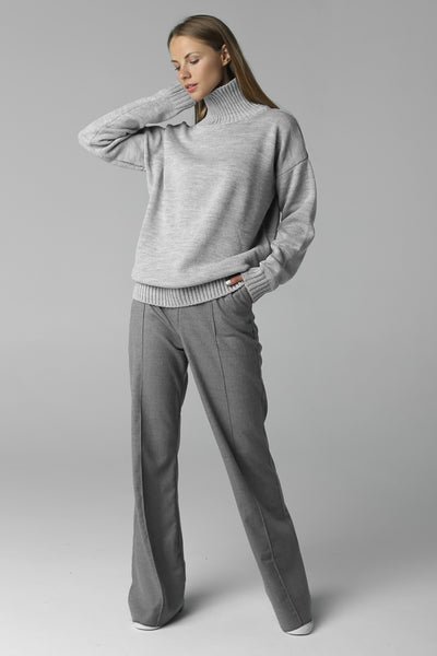 Sweater with high neck (grey)