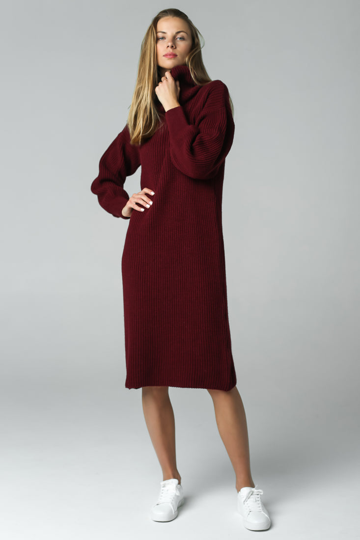 knitted dress merino wool knitwear jumper sweater
