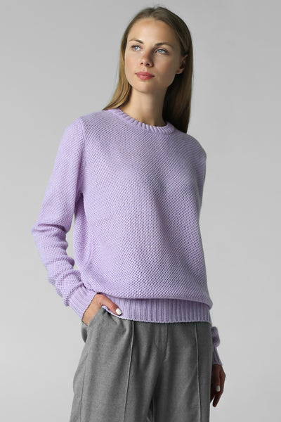 Classic thin jumper honeycomb pattern (lavender)
