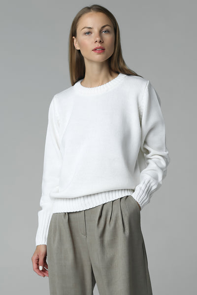 Jumper with high cuff (white)