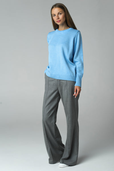 Jumper with high cuff (blue)