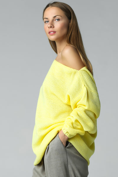 knitted oversize jumper with open shoulder merino wool knitwear jumper sweater