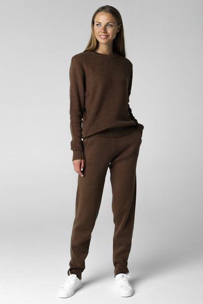 knitted suit merino wool knitwear jumper pants