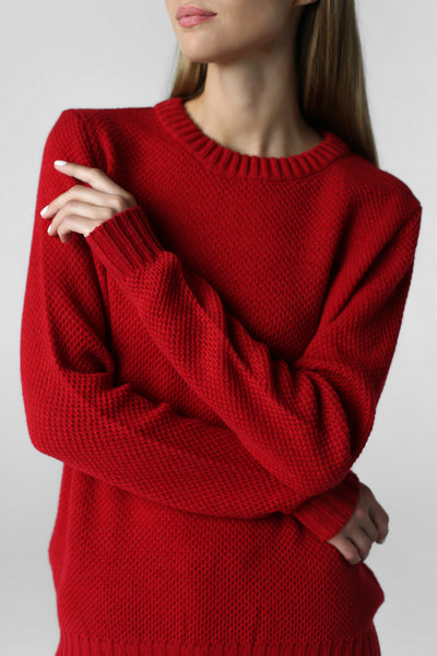 Knitted suit (red)