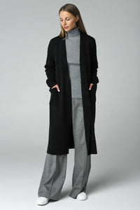 Long cardigan (black)