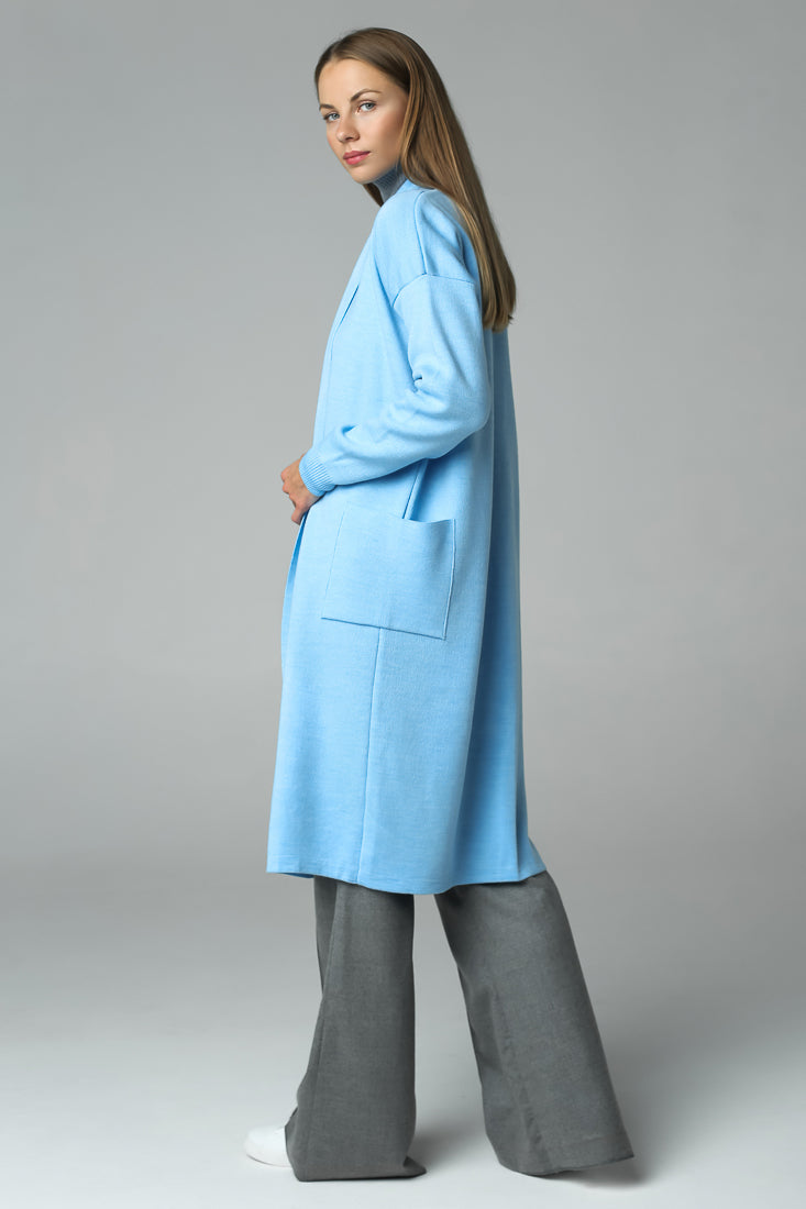 Long cardigan (blue)