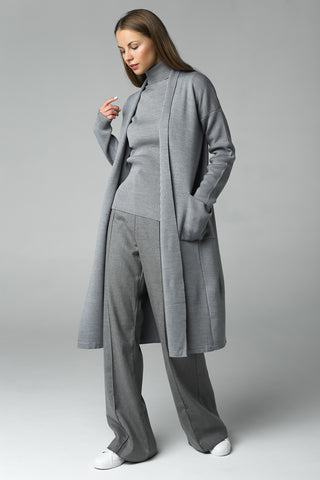 Long cardigan (grey)