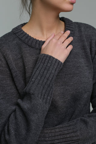 Jumper with high cuff (graphite)
