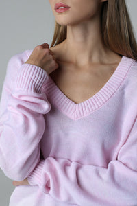 V-neck jumper (pink)