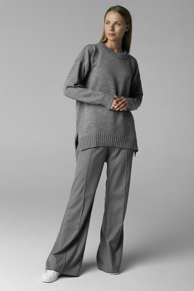 Asymmetric cut jumper (grey)