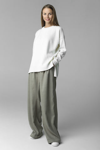 Asymmetric cut jumper (white)
