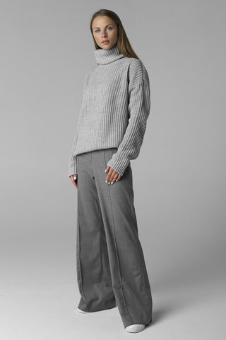 Big sweater with neck (grey)