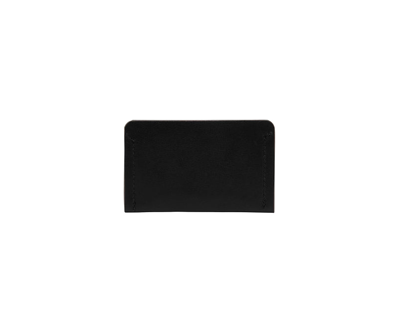Novae Res Card Wallet in Black Leather Back View