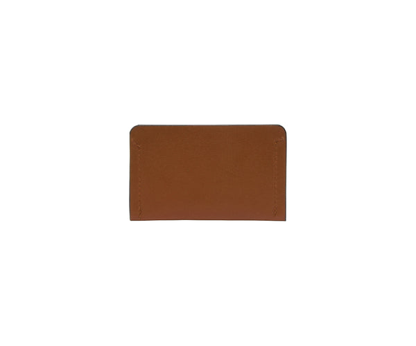 Novae Res Card Wallet in Brown Leather Back View