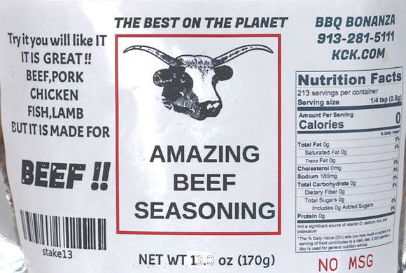 Amazing Beef Seasoning Rub Spice BBQ Bonanza Original