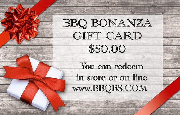 $50.00 Gift Card to BBQ Bonanza
