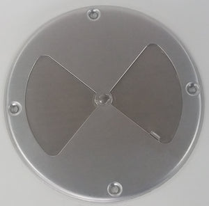 "7.25"" AL BBQ Air Damper closed"