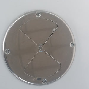 "7.25"" Stainless Steel BBQ Air Damper closed"
