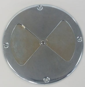 "7.25"" Zinc BBQ Air Damper closed"