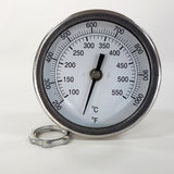 "PIT BOSS BBQ Thermometer Gauge 3"" Dial 4"" Stem F&C 200-1000"