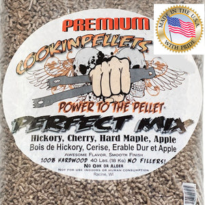 Cooking pellets great for BBQ Perfect Mix